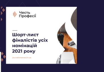 Журі конкурсу професійної журналістики Конкурс «Честь Професії» оголосили шорт-лист фіналістів